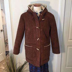 Lauren Ralph Lauren Faux Shearling Hooded Coat